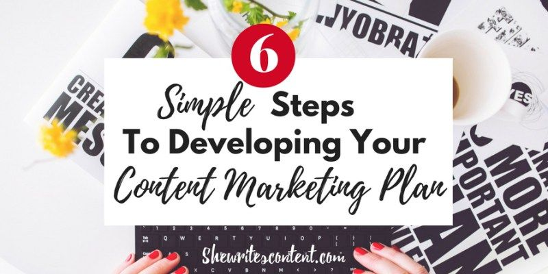 content marketing plan - she writes content