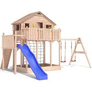 spielturm baumhaus stelzenhaus spielhaus sandkasten rutsche schaukeln 2 0m podesth he. Black Bedroom Furniture Sets. Home Design Ideas