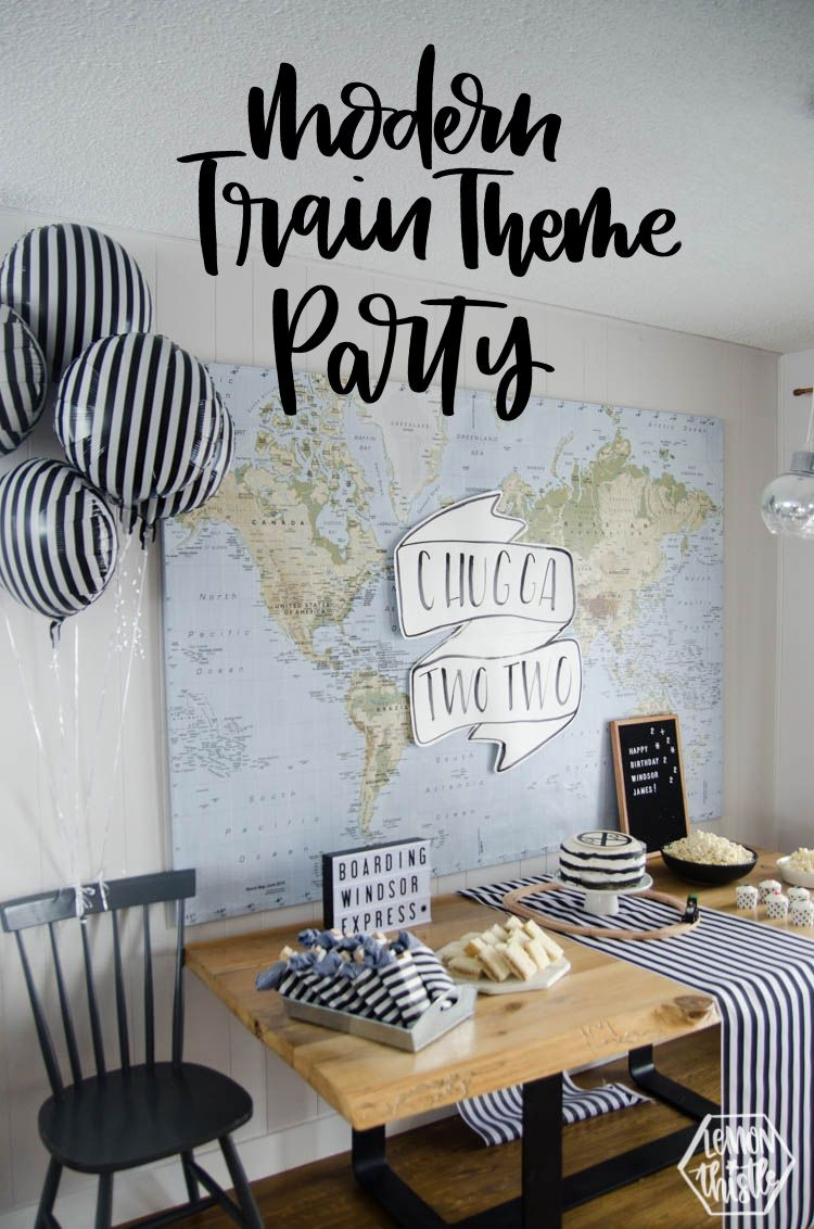Modern Train Theme Party