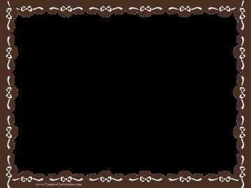 clip art border brown certificate border with white ribbons rh pinterest com Free Printable Borders Clip Art certificate border clip art free