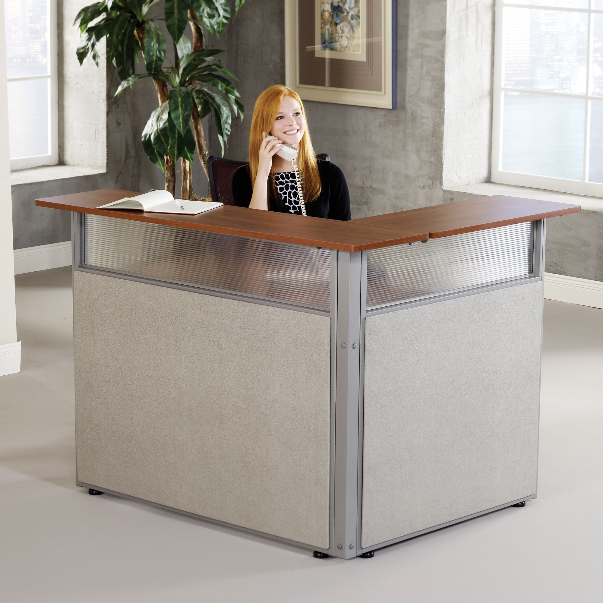 Ofm Scratch Resistant L Shaped Reception Desk Ping The Best Deals On Desks
