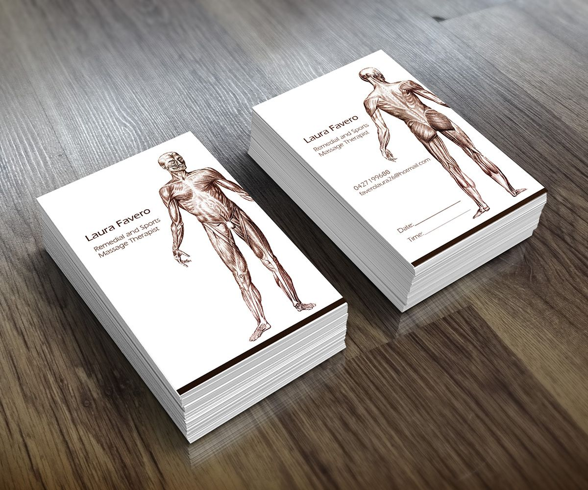 Business Card Design (Design #2404383) submitted to Remedial massage ...