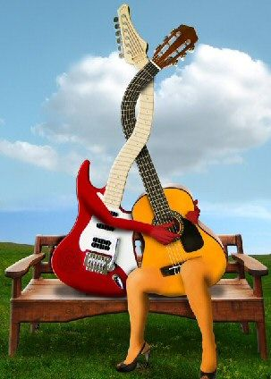 Love those guitars.