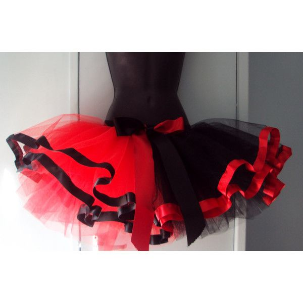 28ef23e587 Red Black Harlequin tutu skirt Burlesque size U.S. 4 - 10 U.K. 6 - 12 (