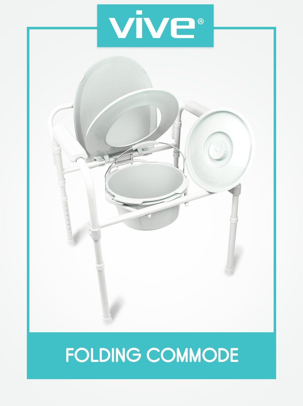 Amazon.com: Commode by Vive - Bedside Commode for Seniors, Handicap ...
