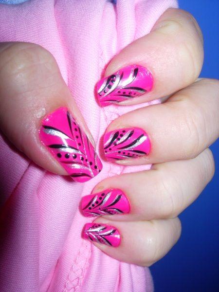 pink nails   Nails Art Mania (Pink design nail)