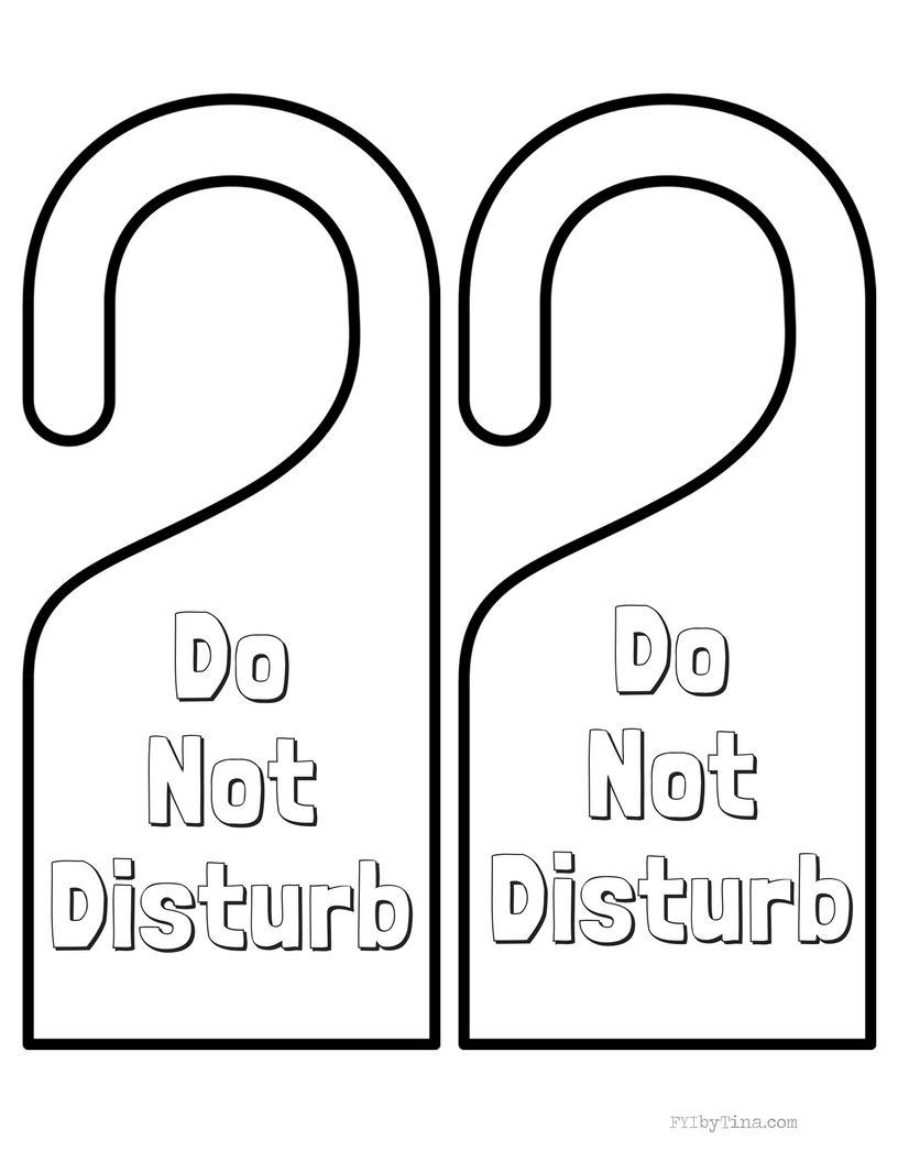 Do Not Disturb Door Hanger Free Printable Free