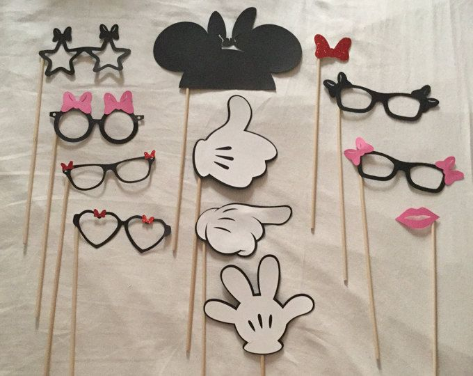 MICKEY MOUSE Photo Booth Props compleanno di Mickey Mouse