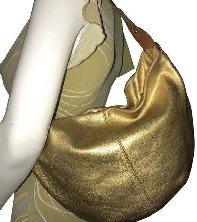 0f37bd89c805 Michael Kors Vintage Pebble Gold Leather Hobo Bag - Tradesy