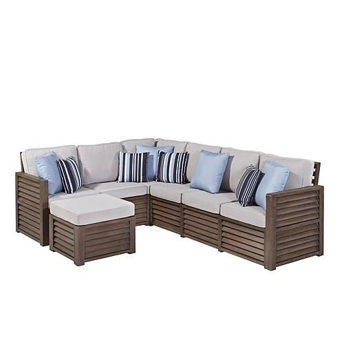 Home Marketplace Barnside Collection Corner L-Shaped Sofa and Ottoman