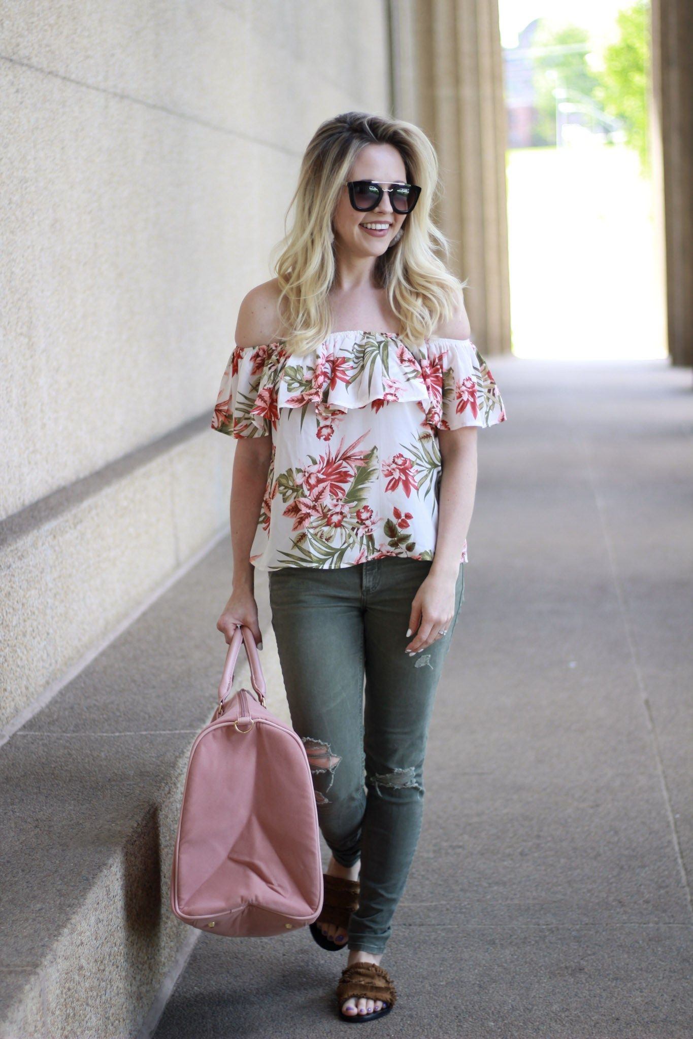 0cb404f133e6 Off the Shoulder Trend. How to style of shoulder tops. What to wear with off  shoulder tops. Off shoulder Tops under  50. Style on a budget.