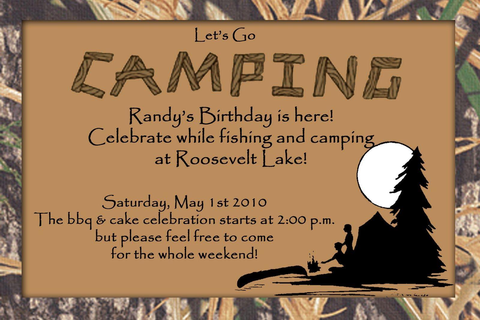 Free Birthday Stationary ~ Free camping stationary camping birthday invitation scrapbooking