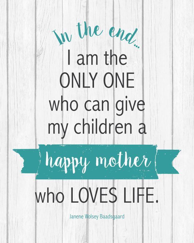 Sunday Encouragment: Happy Mother Quote
