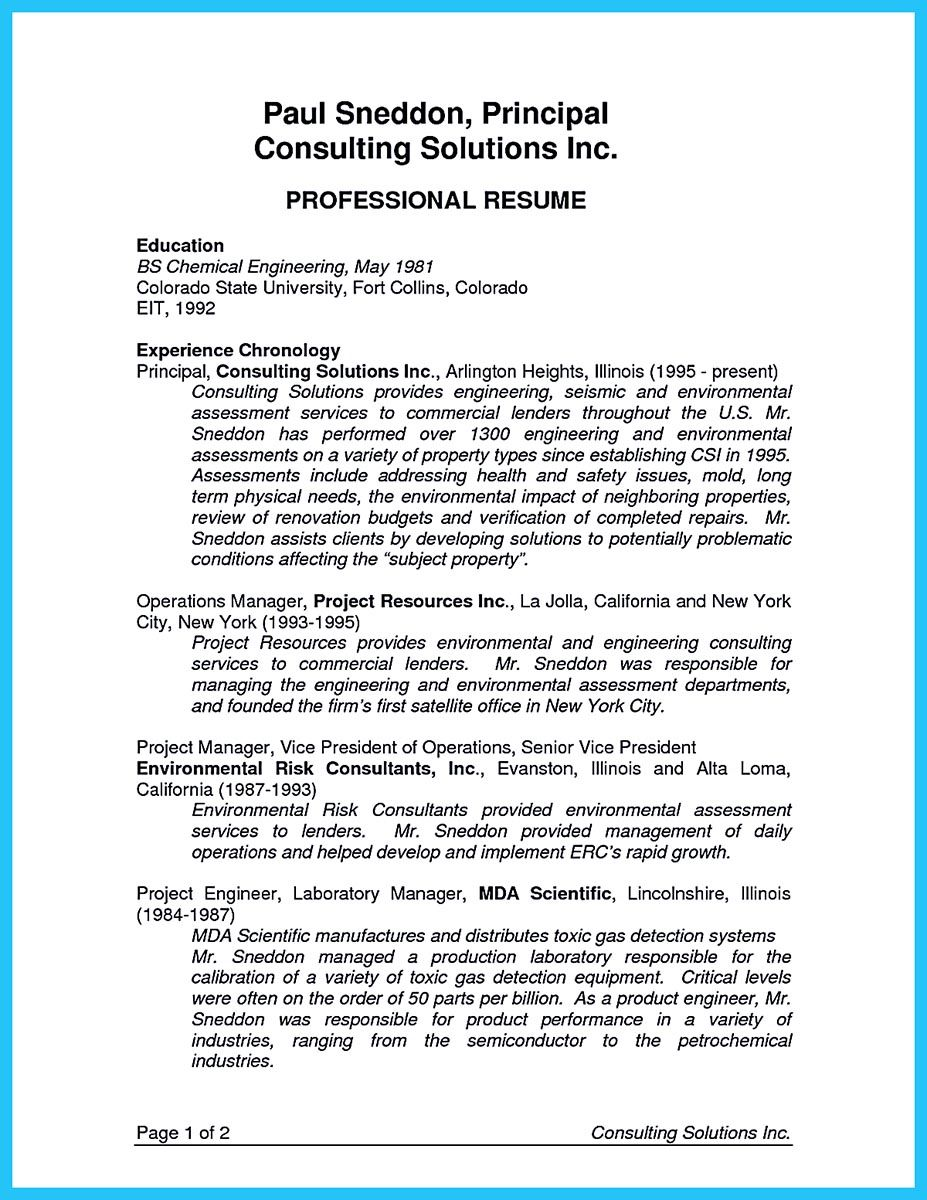 Cool Business Consultant Resume You Need To Get The Job You Eager
