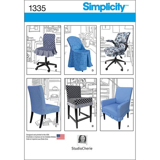 Simplicity Pattern 1335OS One Size -Crafts Home Dcor