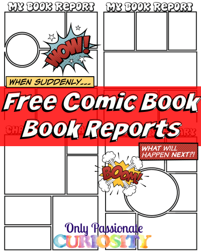 comic strip book report template  FREE Comic Strip Book Reports | homeschool lectura | Comic ...