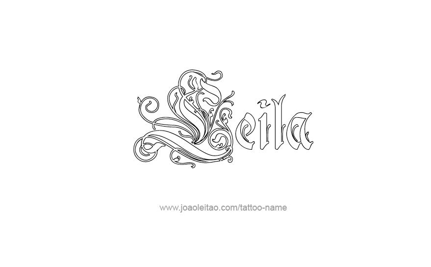 Leila Name Tattoo Designs Name Tattoos Name Tattoo Designs Name Tattoo