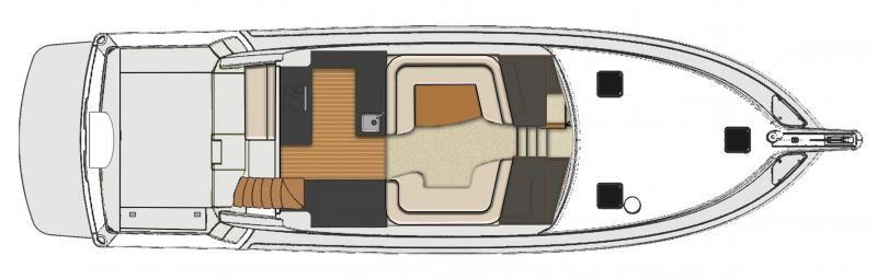 Riviera 53 Open Flybridge with IPS   Saloon Layout
