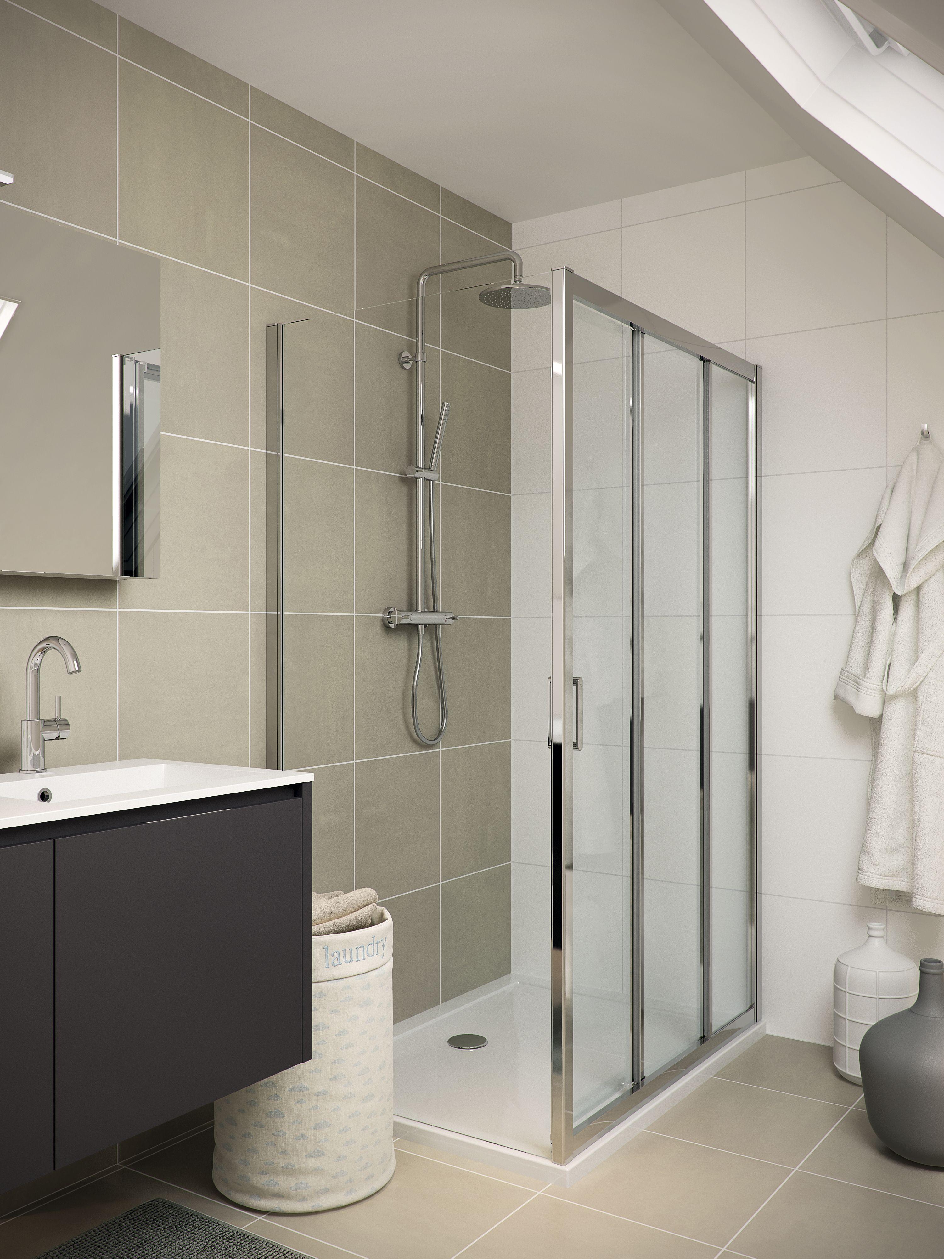 bruynzeel cilo douchecabine 3 delig badkamer idee salle de