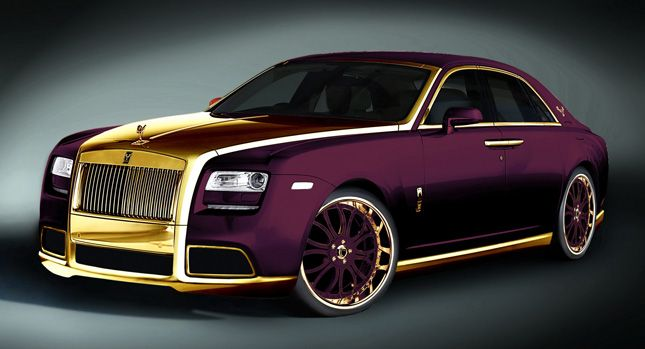 One Off 24k Gold Rolls Royce Ghost Purple By Fenice Milano Poses A 3 Million Question Why Rolls Royce Gold Rolls Royce Luxury Cars