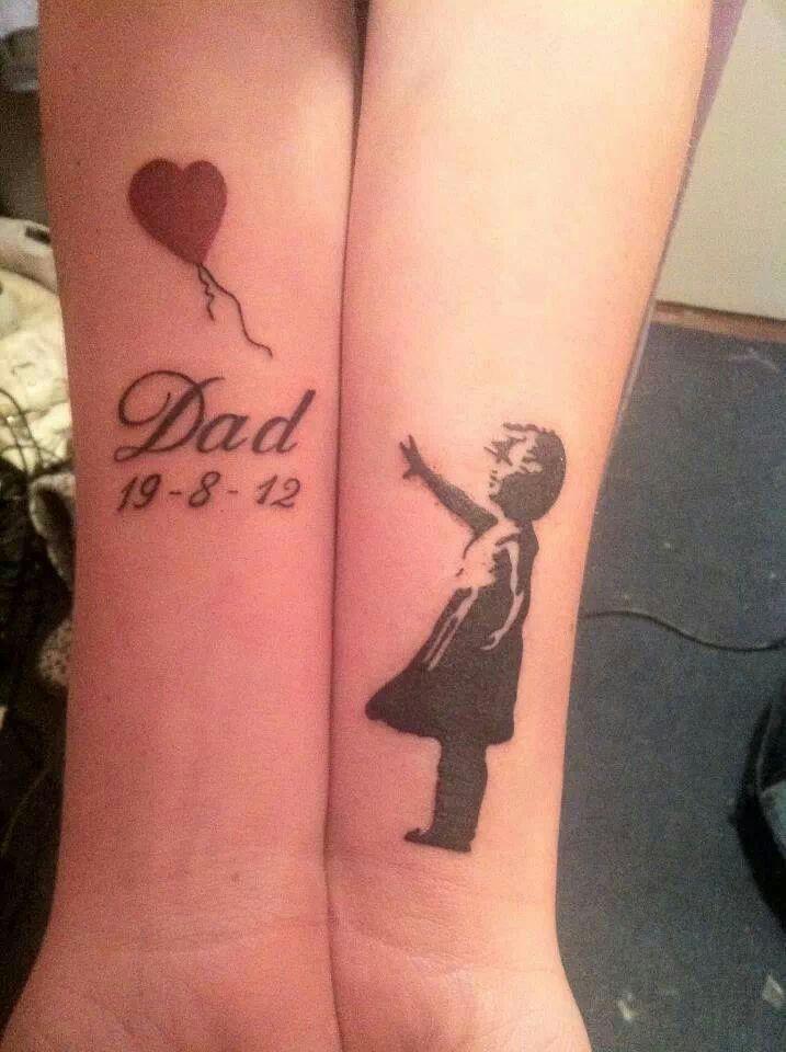 24c32d9ec Banksy - memorial tattoo | Ink | Tattoos, Dad tattoos, Tattoos for ...