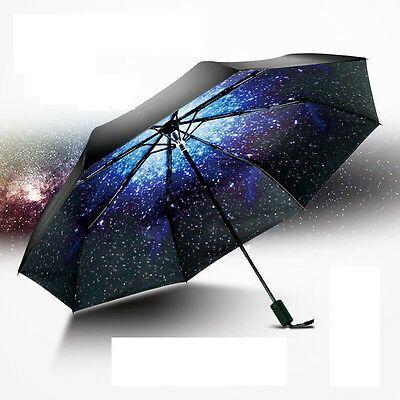 Creative Starry Sky Windproof Anti UV Sun/Rain Princess Folding Umbrella Gift