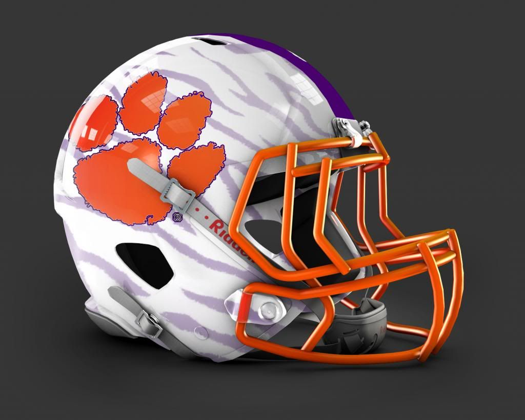 Clemson Tiger Football Helmet Prototype Football Helmets College Football Helmets Nfl Football Helmets