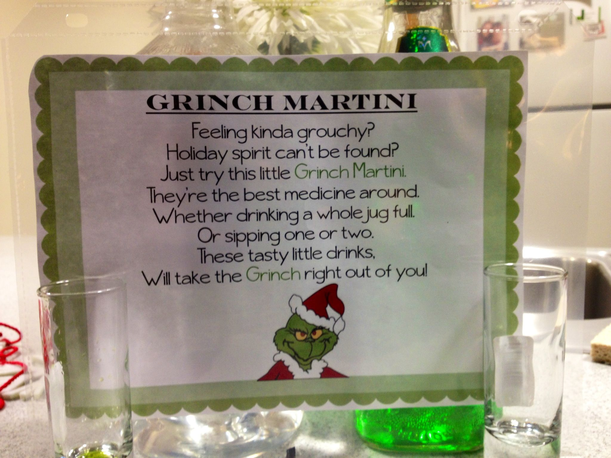 Grinch Martini poem for our Holiday Party | Grinch | Pinterest