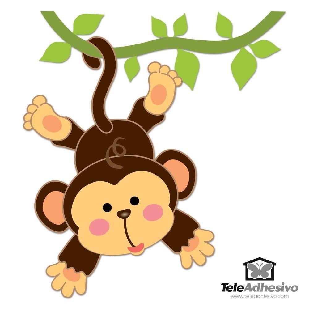 Vinilos infantiles mono colgado en la liana cosas de for Vinilos infantiles