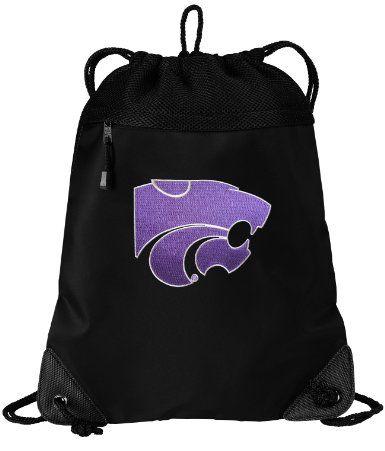 Amazon.com  K-State Logo Drawstring Bag Backpack Kansas State University  College Logo b71f8c9acf