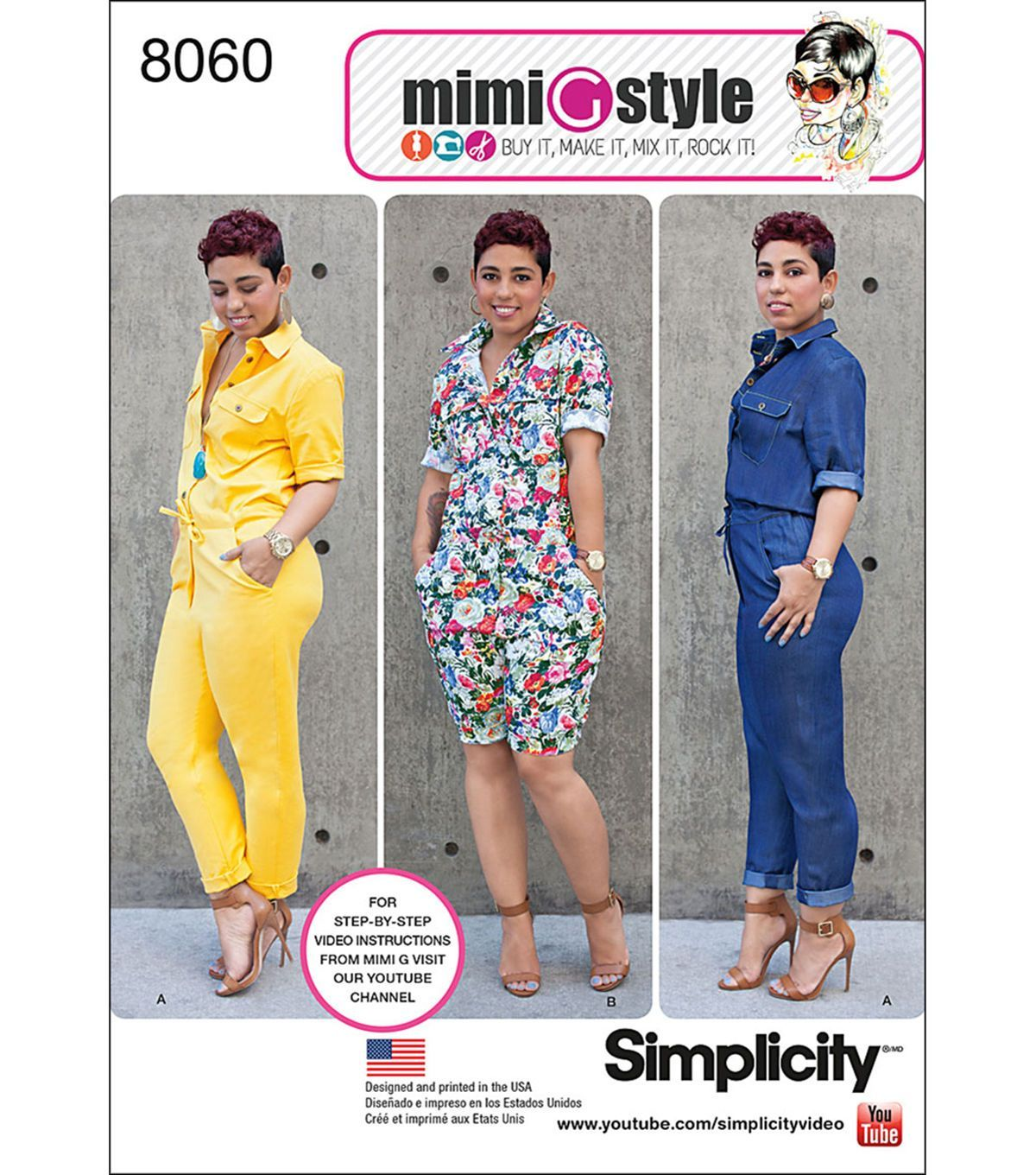 Simplicity Misses' Jumpsuits From Mimi G Style-16-18-20-22