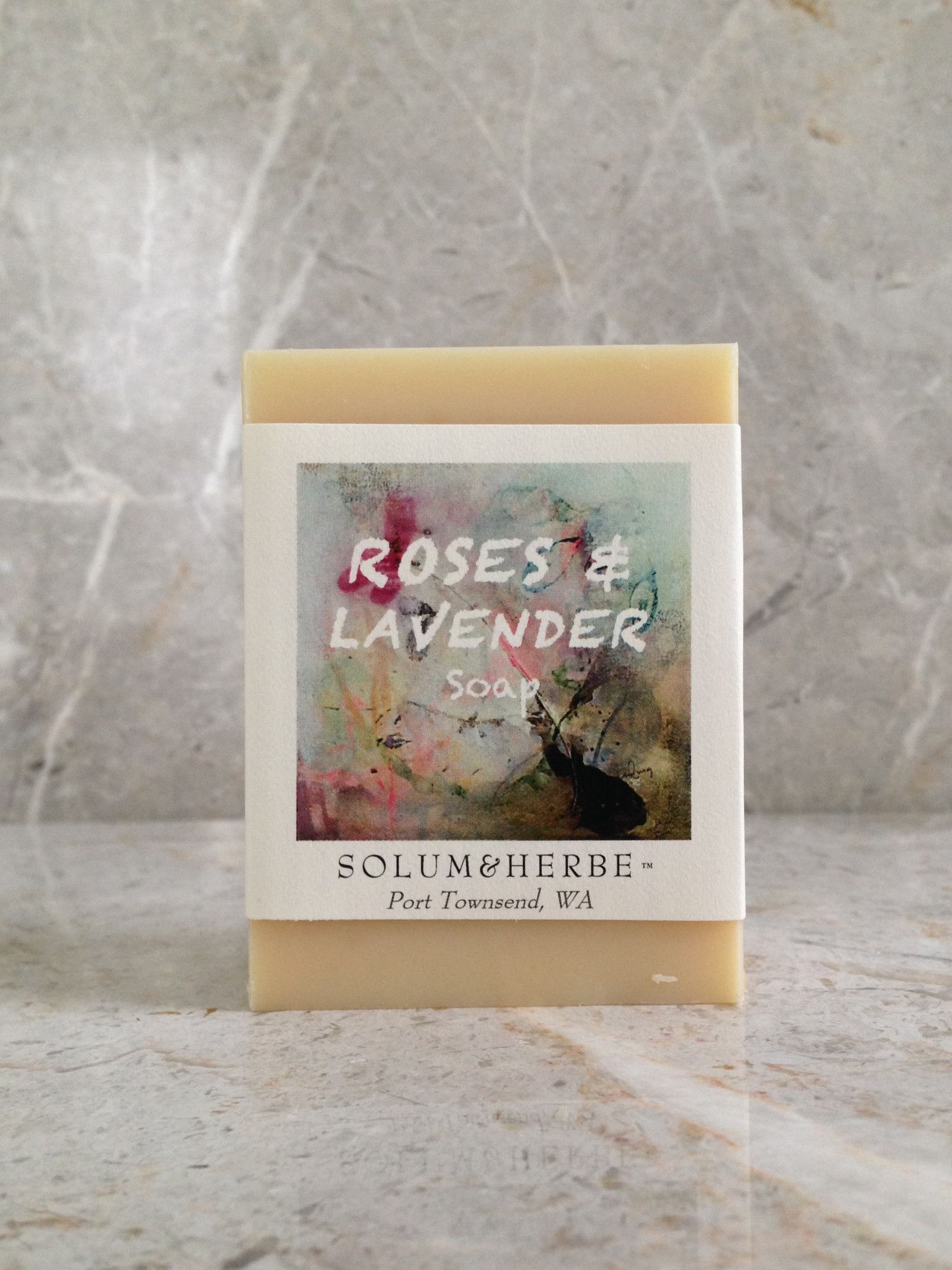 Rose and lavender handmade soap
