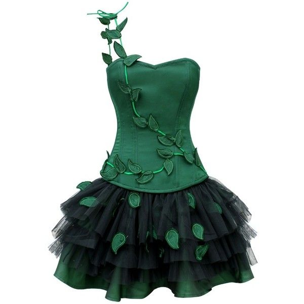Poison Ivy Halloween Outfit ($95) ❤ liked on Polyvore featuring ...