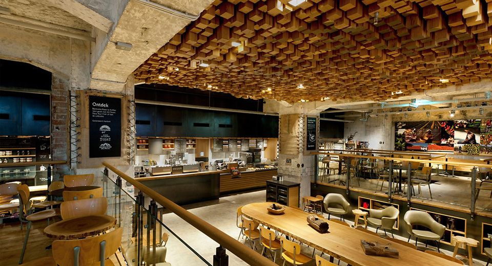 The Most Beautiful Starbucks Store The Bank in Amsterdam