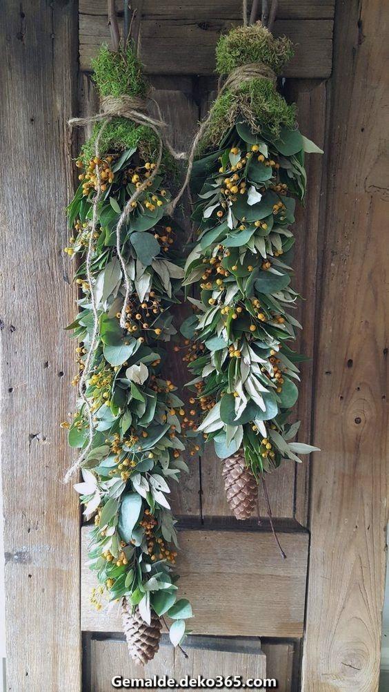 Außergewöhnlich Schöne natürliche Dekoration #kerstideeën