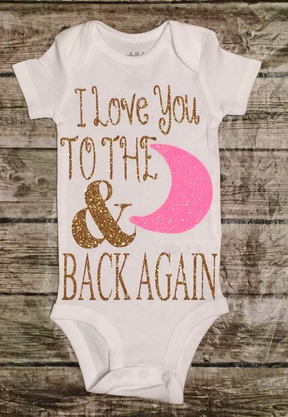 e70e03d51 I Love You to the Moon Onesie Baby Girl Newborn by ALGDezigns