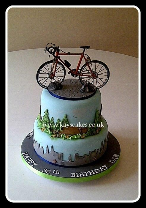 30th Birthday Two Tier Cake For Cycling Enthusiast Cake By Kays