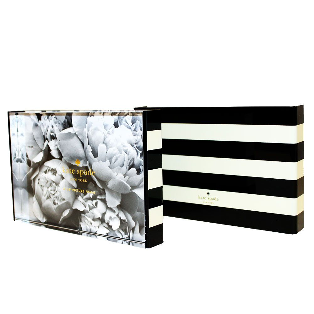 kate spade black stripe picture frame
