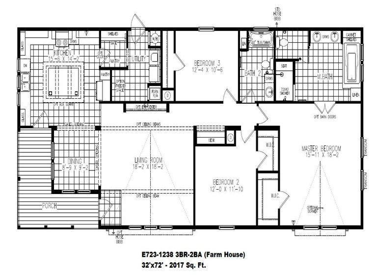 Destiny Industries Llc E723 1238 Manufactured Home Industrial Floor Plans