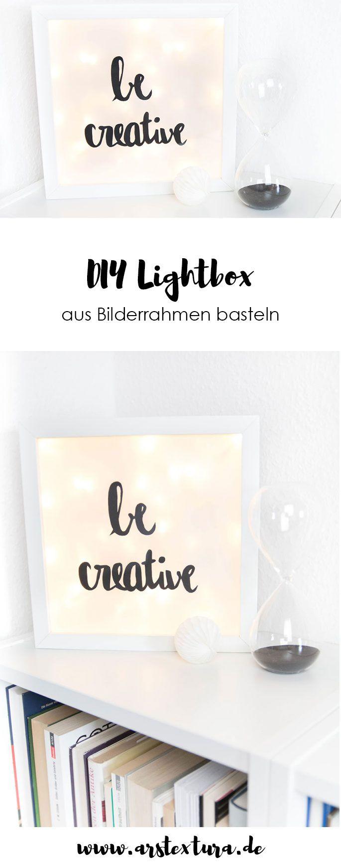 Eine kleine diy lightbox basteln - Lightbox weihnachten ...
