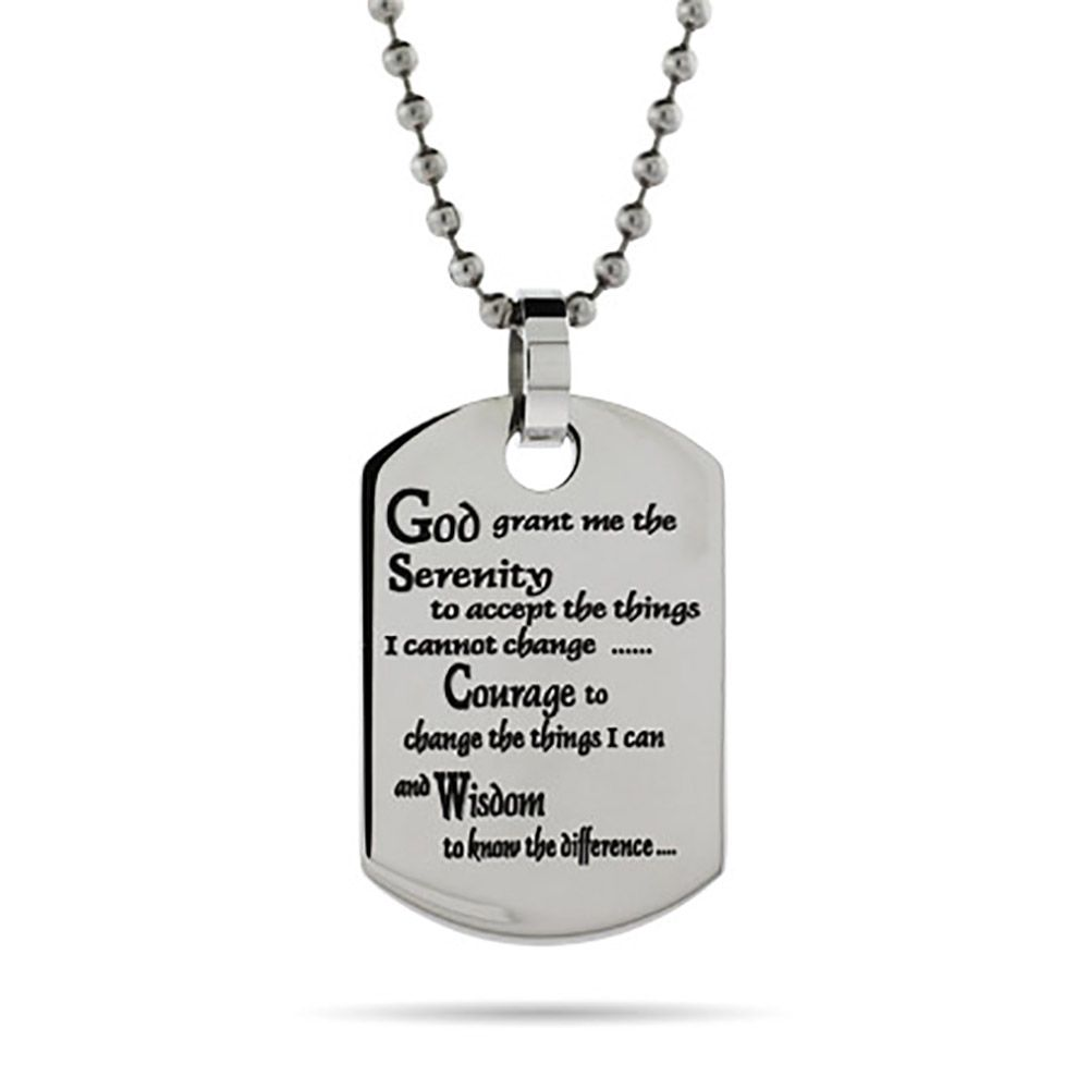 Serenity prayer dog tag is created in stainless steel this dog serenity prayer dog tag is created in stainless steel this dog tag can be personalized mozeypictures Images