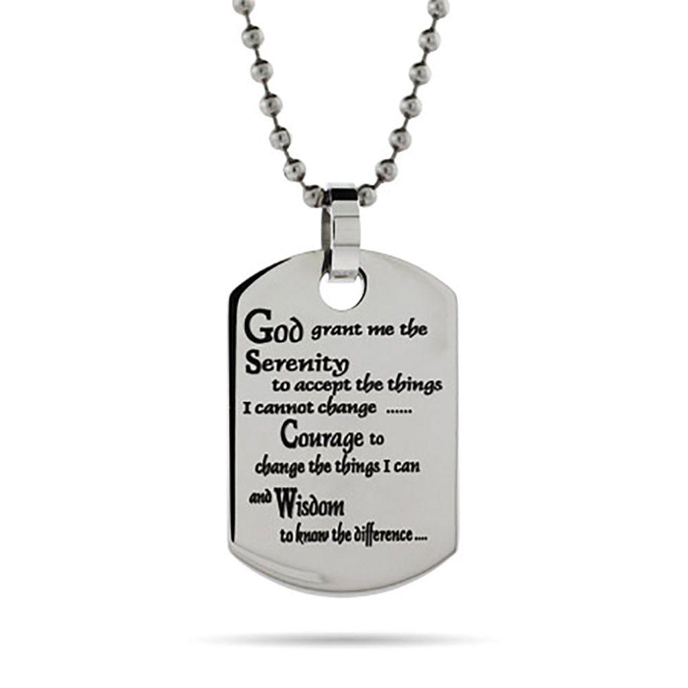 Engravable serenity prayer dog tag pendant serenity serenity aloadofball Choice Image