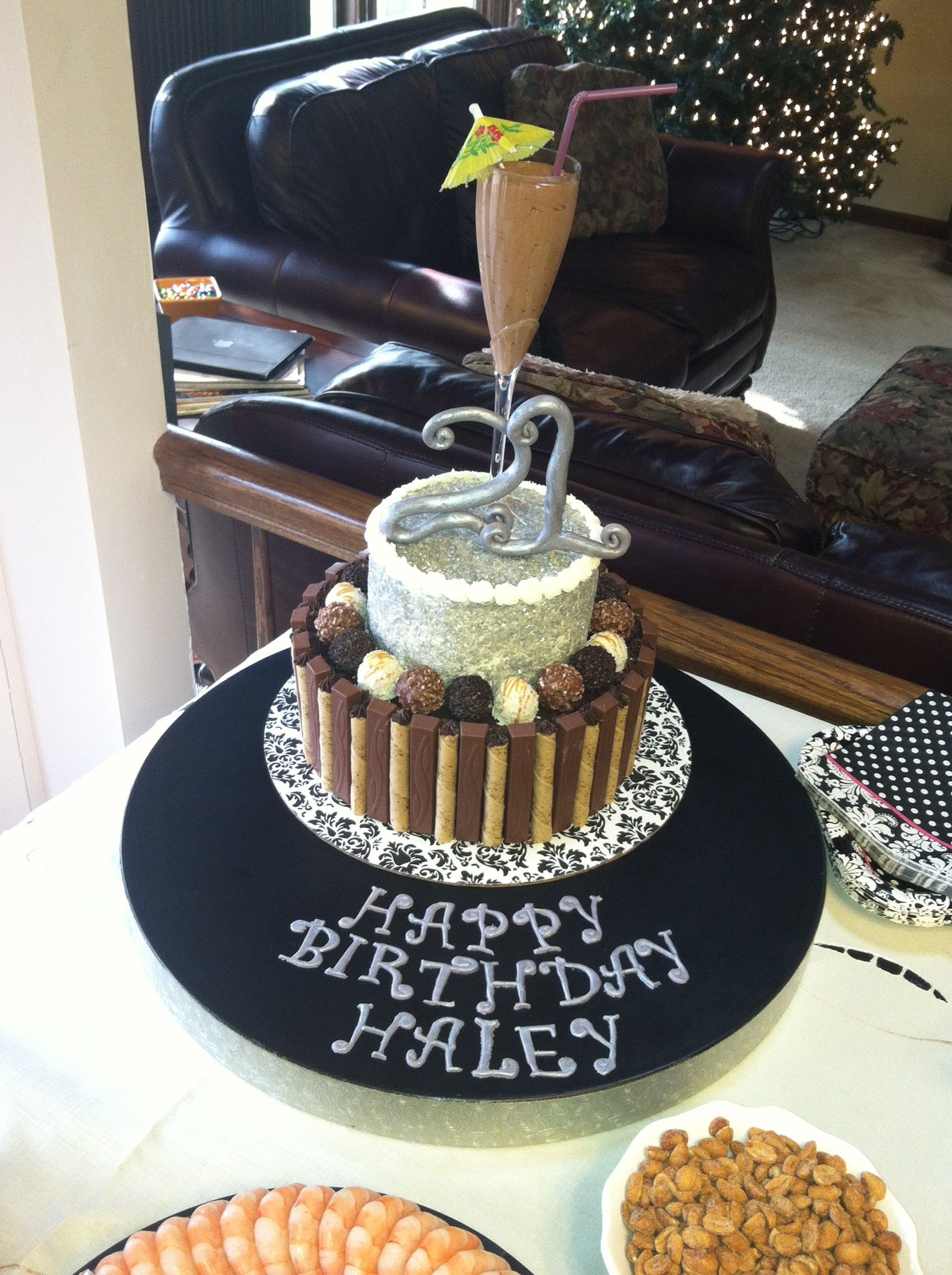 Celebrating my soon to be 21st birthday!y aunt made this incredible cake!!!