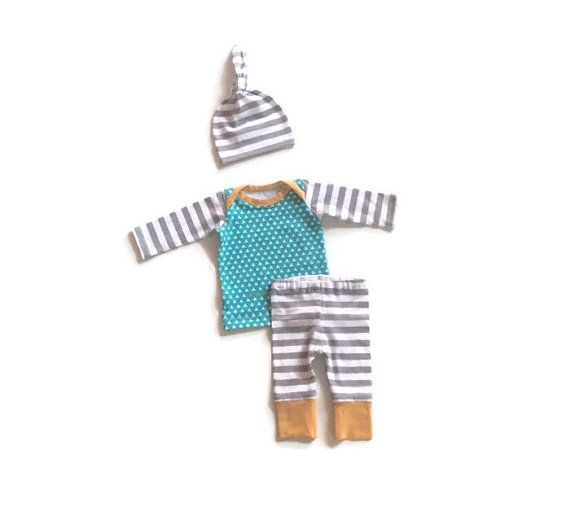 Newborn boy take home outfit hospital outfit by LemonJuicebrand