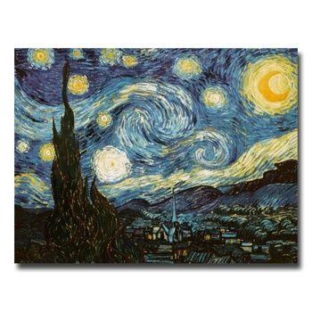 Van Gogh Starry Night Hand-painted Canvas Art