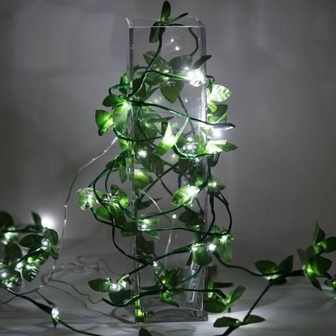 6FT 60 LED White Pre Lit Battery Operated Garland Fairy String