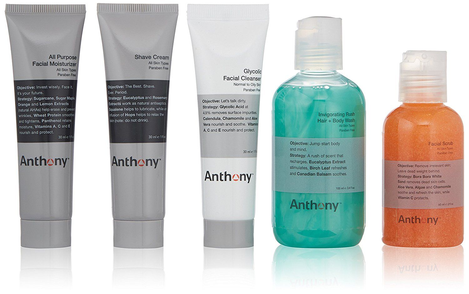 Anthony Fresh 5 Skin Care Set, 12 fl. oz. * This is an