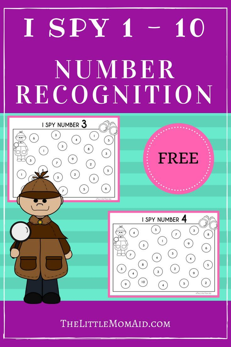 FREE I SPY: Numbers 1-10 Worksheets | Spy, Worksheets and Child