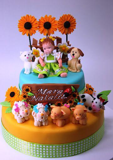 viorica's cakes: Con animalitos de granja