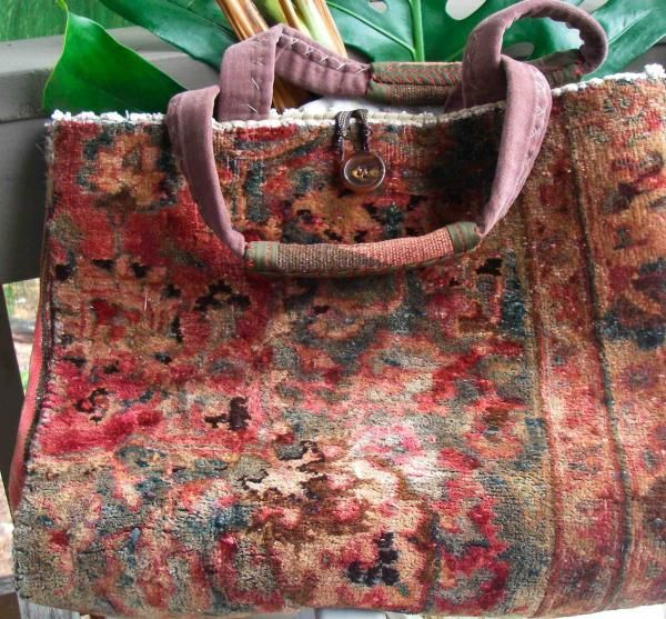 Carpetbag Satchel - Nomadic Bag Tapestry - Textile